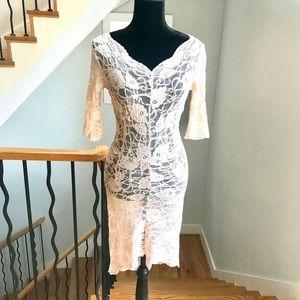 BEBE Sheer Lace Dress!